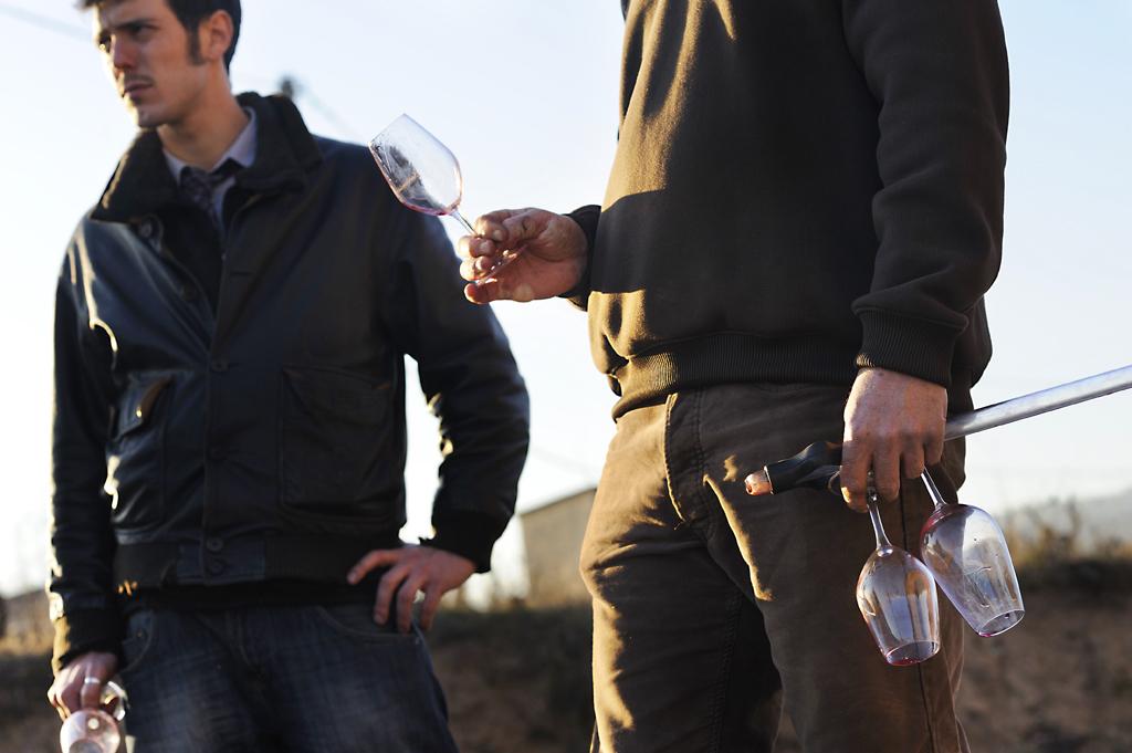 Dégustation chez  Jean-Claude Lapalu (Beaujolais) avec l'équipe  de la cave Vins Natures